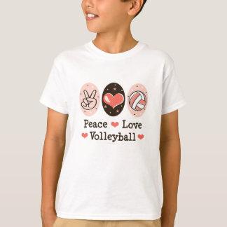 T-shirt d'enfant de volleyball d'amour de paix