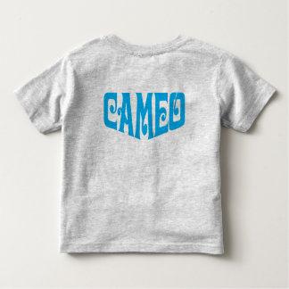 T-shirt d'enfant en bas âge avec le logo bleu de