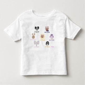 T-shirt d'enfant en bas âge d'Ani-ami-imals de