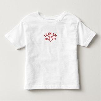 T-shirt d'enfant en bas âge de coeur de base-ball