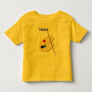 T-shirt d'enfant en bas âge de palette de
