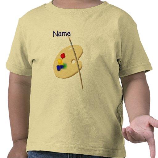 T-shirt d'enfant en bas âge de palette de l'artist