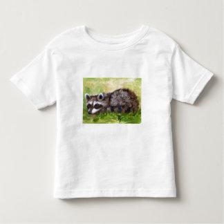 T-shirt d'enfant en bas âge de raton laveur d'aceo