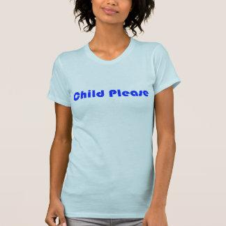 T-shirt D'enfant femmes bleues svp
