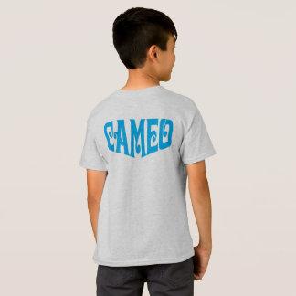 T-shirt d'enfants avec le logo bleu de camée