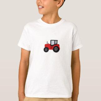 T-shirt d'enfants avec le tracteur rouge