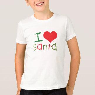 T-shirt d'enfants de Père Noël d'amour des enfants