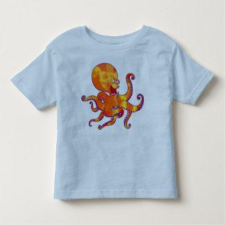 T-shirt d'enfants de poulpe de bande dessinée