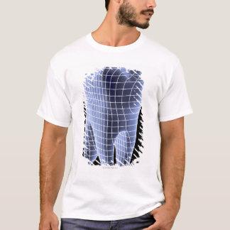 T-shirt Dent, illustration d'ordinateur d'une dent molaire
