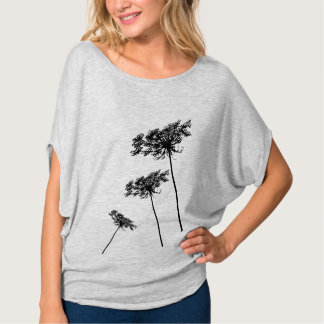 T-shirt Dentelle de la Reine Anne, fleurs sauvages