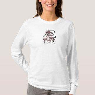 T-shirt Dentelle tourbillonnée 2 avec le remous criqué