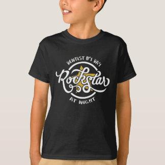 T-shirt Dentiste par jour Rockstar la nuit