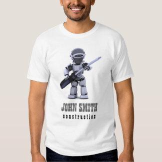 T-shirt d'entreprise de construction