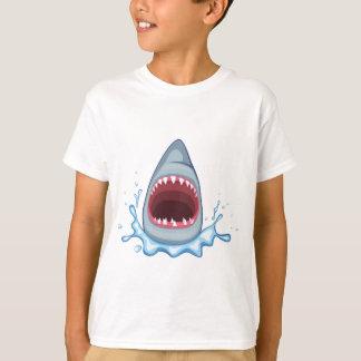 T-shirt dents de requin de la bande dessinée