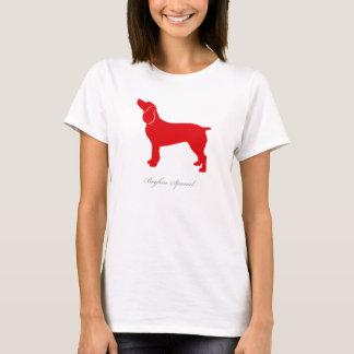 T-shirt d'épagneul de Boykin (silhouette rouge)