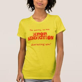 T-shirt Dépendance de Kpop (femelle)