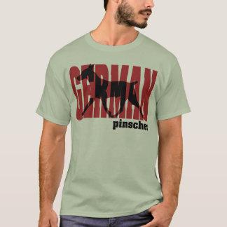 T-shirt Déplacement allemand de silhouette de Pinscher