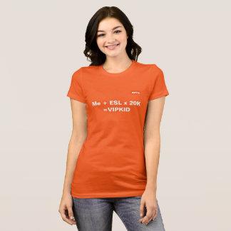 T-shirt d'équation de VIPKID (orange)