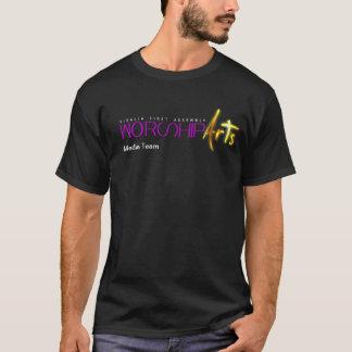 T-shirt d'équipe de médias d'arts de culte