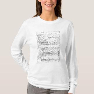T-shirt Dernière page 'd'une La Recherche du Temps Perdu'