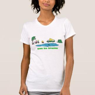 T-shirt Des aventures vertes d'autobus - campez en
