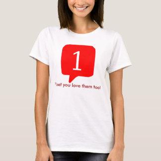 T-shirt Des avis de Facebook, j'ai parié que vous les