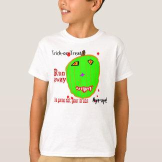 T-shirt Des bonbons ou un sort de citrouille de zombi