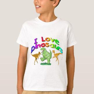 """T-shirt Des cadeaux aime dinosaures d'enfants """"je"""""""