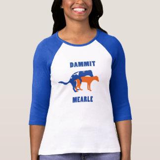 T-shirt Des femmes pièce en t de base-ball de Mearle mince