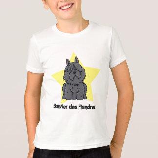 T-shirt DES Flandres de Bouvier d'étoile de Kawaii