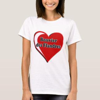 T-shirt DES Flandres de Bouvier sur le coeur pour des