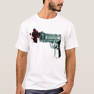 T-shirt Des hommes rayés blancs d'arme à feu de saignement