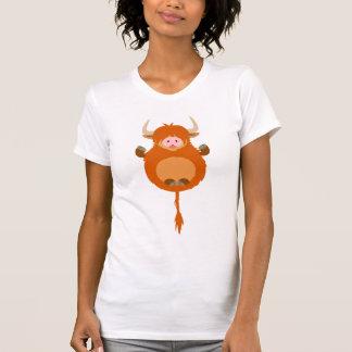 T-shirt des montagnes méditant mignon de femmes de