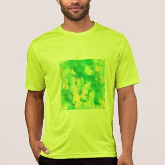 T-shirt des sports des hommes d'aquarelle de vert