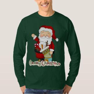 T-shirt des vacances des hommes de Père Noël de