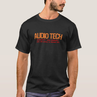 T-shirt Description audio de technologie
