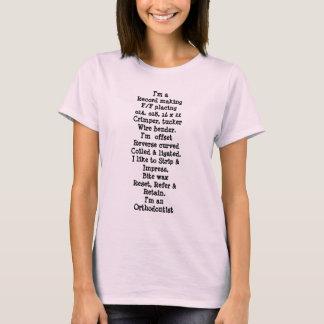 T-shirt description du poste d'orthodontiste