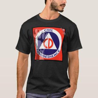 T-shirt DÉSOBÉISSANCE CIVILE - obscurité