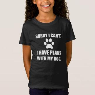 T-Shirt Désolé j'ai des plans avec mon chien drôle