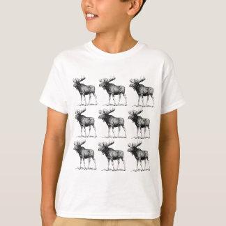 T-shirt désordre d'orignaux