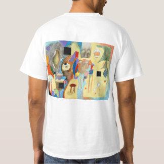 T-shirt d'espaces vides (imprimé dessus de retour)