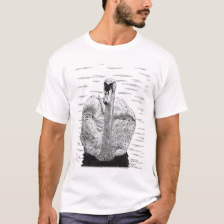 T-shirt Dessin à l'encre de cygne