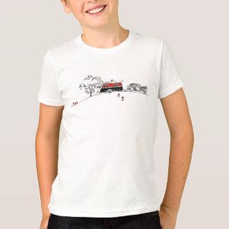 T-shirt Dessin antique de campeur et de voiture de rv