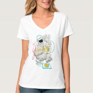 T-shirt Dessin de croquis du monstre B&W de biscuit