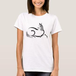 T-shirt Dessin japonais d'encre de cheval