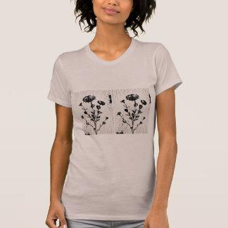 T-shirt Dessin médiéval d'art de fleur