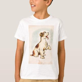 T-shirt Dessin vintage de chien d'écorcement