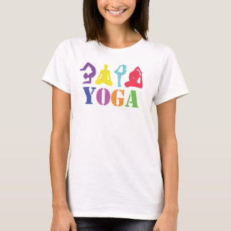 T-shirt Dessus coloré de conception de yoga