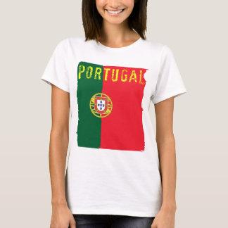 T-shirt Dessus de dames de drapeau du Portugal