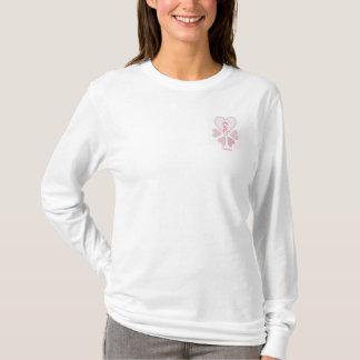 T-shirt Dessus de dames de survivant de cancer du sein